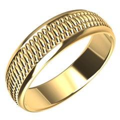 18 Karat Yellow Gold Milgrain Polished Wedding Band