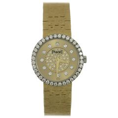Piaget Lady's Yellow Gold Diamond Dial and Bezel Quartz Wristwatch