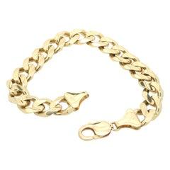 14 Karat Yellow Gold Cuban Link Bracelet