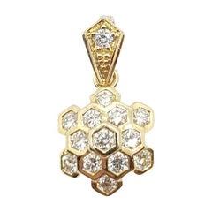 Diamond Honeycomb Pendant Set in 18 Karat Gold Settings