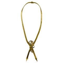 1940s Necklace Choker Diamon Gold 18 Karat