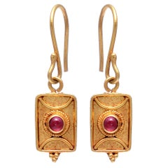 Gold with Ruby Earring