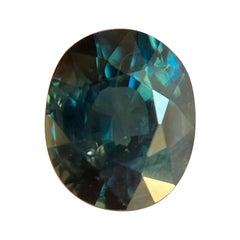 1.69ct Deep Blue Green Teal Sapphire Oval Cut Gemstone