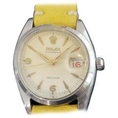Mens Rolex Oysterdate Precision Ref 6494 Hand-Wind 1950s Vintage RA191