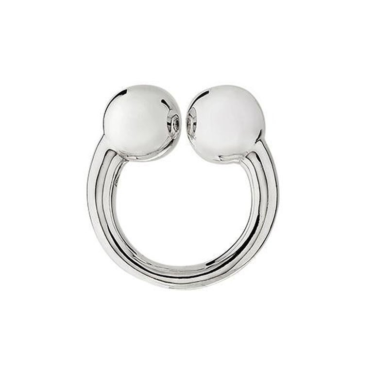 """Betony Vernon """"Small Double Sphere Massage Ring"""" Ring Sterling Silver 925"""
