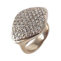 18ct White Gold Pave Diamond Ring