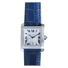 Cartier Tank Française GM Stainless Steel Automatic Unworn Full Set