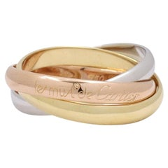 Cartier Les Must de Trinity Tri-Color Gold Rolling Ring