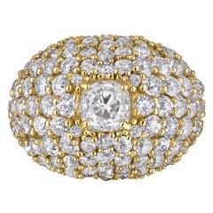 Mindi Mond Exclusive 10.86 Carat Old Cut Diamond 18 Karat Yellow Gold Dome Ring