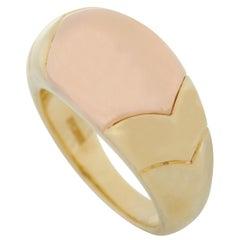 Bvlgari Tronchetto 18K Yellow and Rose Gold Ring
