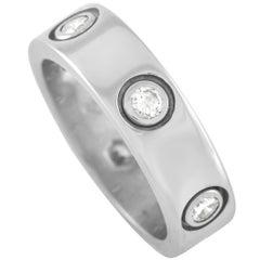 Cartier Love 18K White Gold 6 Diamond Ring