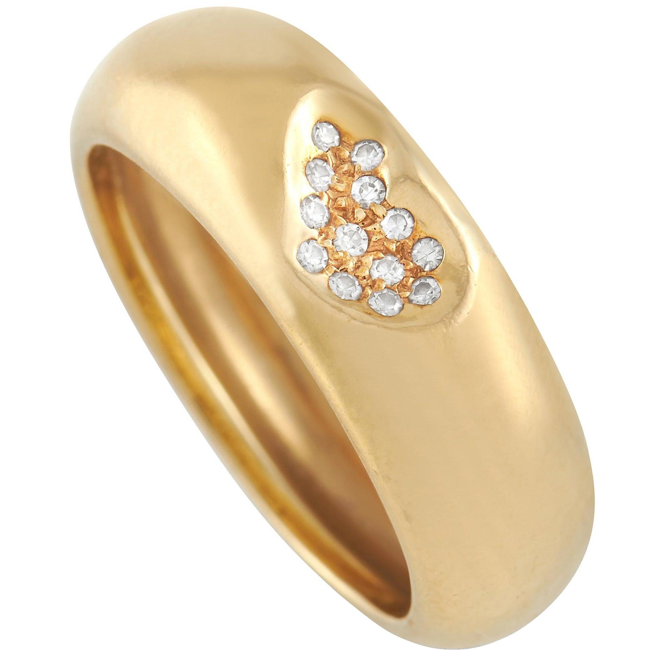 Tiffany & Co. 18K Yellow Gold Diamond Heart Ring