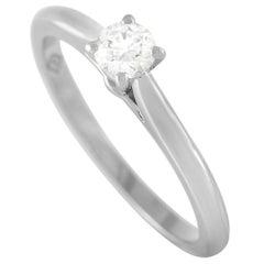 Cartier Platinum 0.19 Ct Diamond Engagement Ring