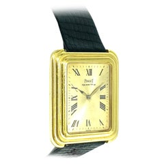 Piaget Stepped Case 18k Solid Gold Watch circa 1980's