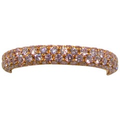 Pierre Famille Fancy Pink Diamond Gold Eternity Band Ring