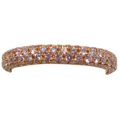 Pierre Famille Fancy Pink Diamond Gold Eternity Band Ring