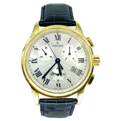 Concord 18k Solid Gold 43.5mm Chronograph Wristwatch