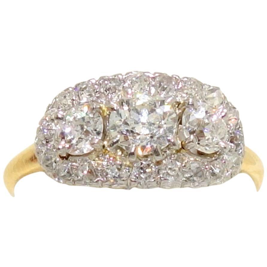 1910 edwardian gold platinum ring at 1stdibs