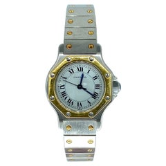 Cartier Santos Octagon Date Two Tone Steel and 18k Gold Automatic Watch