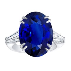 Emilio Jewelry 12.75 Carat Royal Blue Sapphire Ring