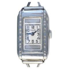 Art Deco Ladies 10k Gold Filled Wrist Watch by Elgin, c1930