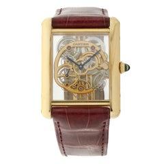 Cartier Tank Jumbo Louis Ref WHTA0002 Skeleton Wristwatch in 18k Roségold