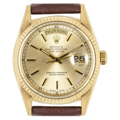 Rolex Day-Date Yellow Gold Champagne Dial 18038 Watch