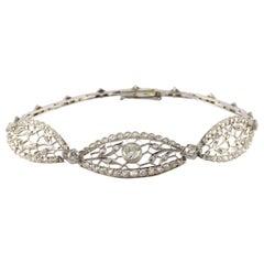 Belle Epoque Era Diamond and Filigree Bracelet