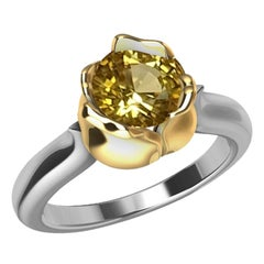 18 Karat Rose Gold and Platinum GIA Diamond Tulip Engagement Ring, Tiffany Desi
