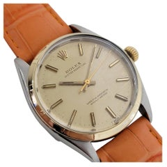 Mens Rolex Oyster Perpetual Ref 1003 14k SS Automatic 1960s Vintage RA174
