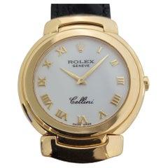 Midsize Rolex Cellini Ref 6622 18k Solid Gold Quartz 1990s Swiss RJC109