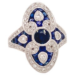 Beverley K Vintage Inspired Sapphire and Diamond Ring