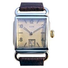 Art Deco Serviced 10k Gold Filled Gents Wrist Watch, c1946