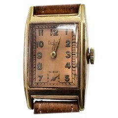 Art Deco Gentleman's German Wrist Watch by Lupro, c1940's