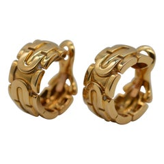 """Cartier Panthère Maillon """"Art Déco"""" 18K Yellow Gold Earrings Unworn"""