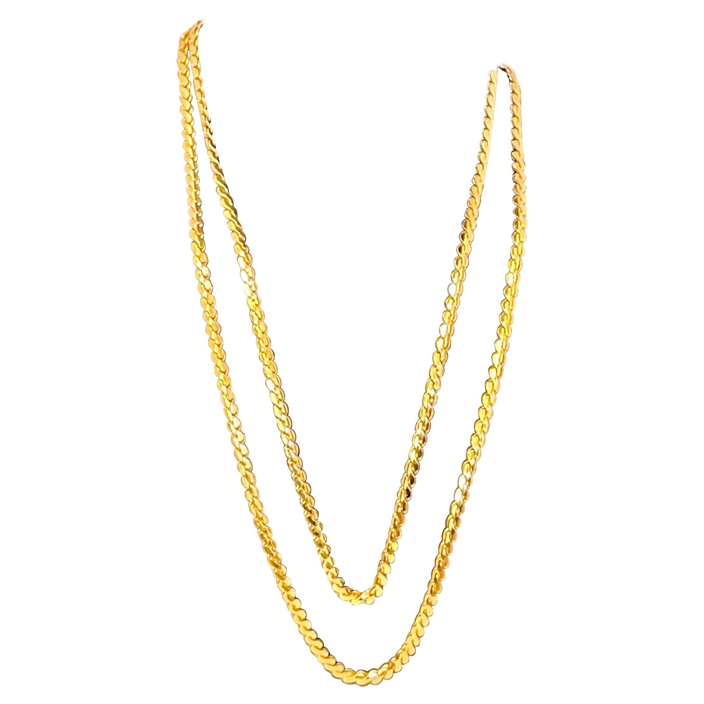 Vintage 18 Karat Yellow Gold 19 Gm Chain Necklace