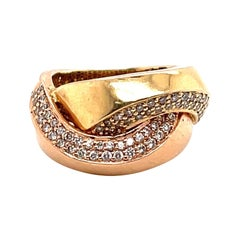 Diamond Two Tone Gold Ring