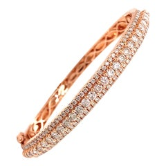 TB Exclusive Diamond Rose Gold Designer Bangle