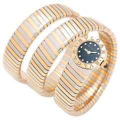 Bvlgari Bulgari Tubogas Wrap Watch Model BB LP191T SG Diamond Dial