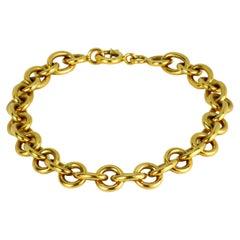 18K Yellow Gold Chunky Chain Link Bracelet