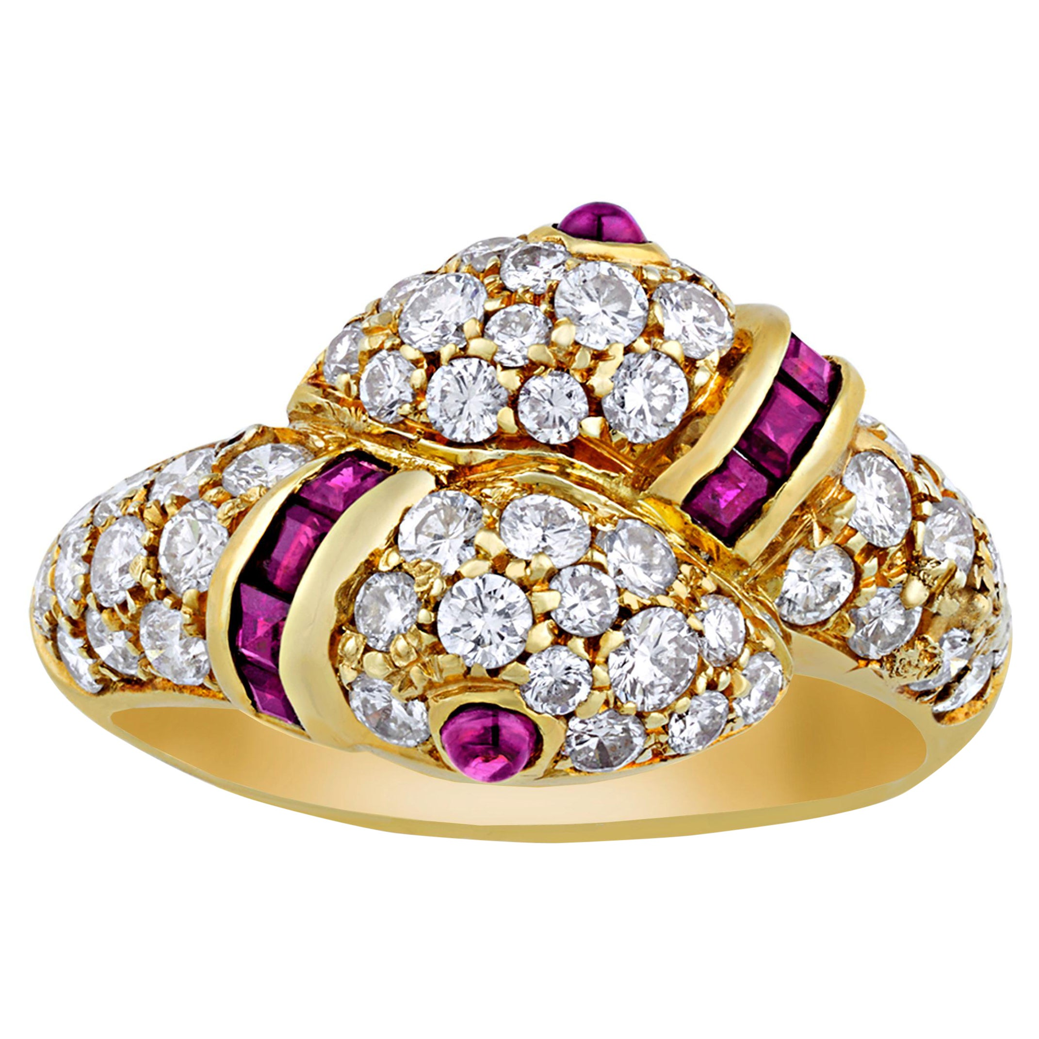 Ruby and Diamond Snake Ring by Cartier