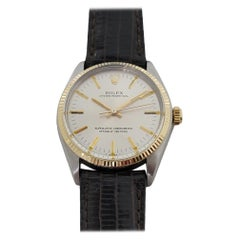 Mens Rolex Oyster Perpetual Ref 1005 14k Gold SS Automatic 1970s w Paper RA181