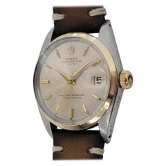 Mens Rolex Oyster Perpetual Date 14k SS 1500 Automatic 1960s Vintage RA182