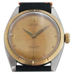 Mens Rolex Oyster Perpetual 6592 14k SS Automatic 1950s Vintage RJC118