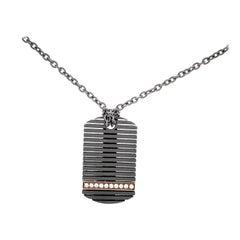 Men's Titanium Black Diamond Pendant
