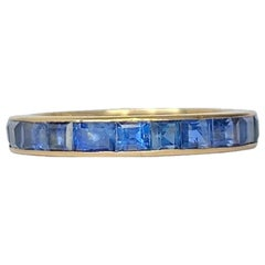 Art Deco Sapphire and 18 Carat Gold Full Eternity Band