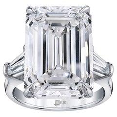 Emilio Jewelry GIA Certified 14.00 Carat D Flawless Type 2 A Diamond Ring