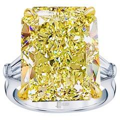 Emilio Jewelry 43.00 Carat Fancy Intense Yellow Diamond Ring