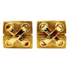 Cartier Vintage Yellow Gold Nautical Cufflinks
