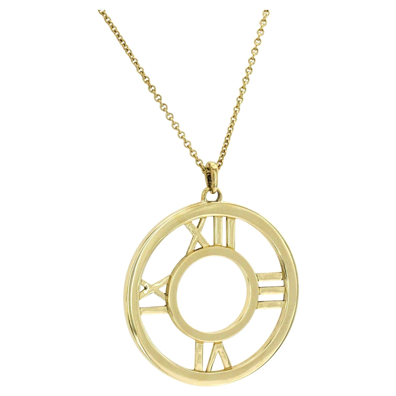 Tiffany & Co. 18K Yellow Gold Large Atlas Roman Numeral Necklace